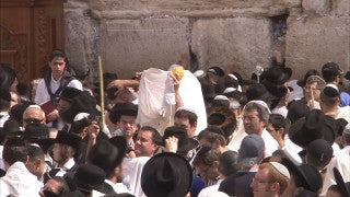 JJ_005 - Jewish sites in Jerusalem: Priestly blessing ceremony at the Western Wall
