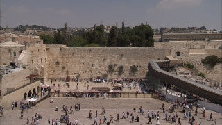 JJ_012 - Jewish sites in Jerusalem: The Western Wall long shot