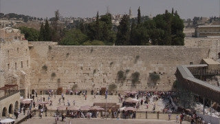 JJ_013 - Jewish sites in Jerusalem: The Western Wall long shot