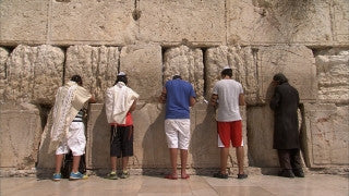 JJ_018 - Jewish sites in Jerusalem: Jewish worshipers at the Western Wall