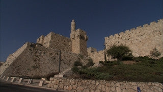 JJ_043 - Jewish sites in Jerusalem: Tower of David pan left to right