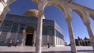 JM_006 - Muslim sites in Jerusalem: Al Aqsa, Dome of the Rock, Temple Mount with stairs and arches