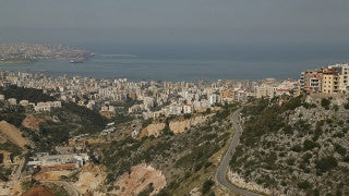 LB 001 International stock footage: Beirut skyline from the north east.