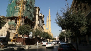 LB 009 International stock footage: Beirut, Lebanon - construction of church