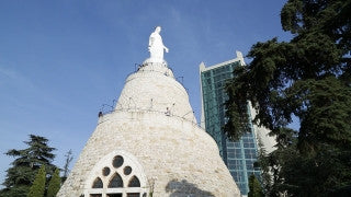 LB 015 International stock footage: Our Lady of Lebanon, Harissa, Lebanon.