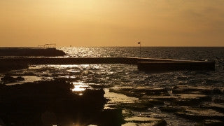 LB 023 International stock footage: Beirut, Lebanon: sunset in the sea