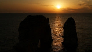 LB 024 International stock footage: HD footage of Pigeon Rocks, Beirut, Lebanon