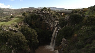 LN_007 Israel Nature and Landscape footage: Iyon (Tanur) Stream - waterfall in the Galilee Mountains