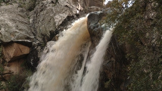 LN_009 Israel Nature and Landscape footage: Close up of the Tanur waterfall in the Galilee Mountains