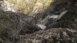 LN_012 Israel Nature and Landscape footage: Pan left to right Sa'ar Waterfall in the Galilee Mountains