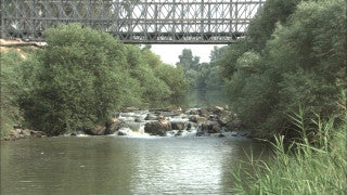 LN_015 Israel Nature and Landscape footage: Jordan River near Bnot Yaakov Bridge