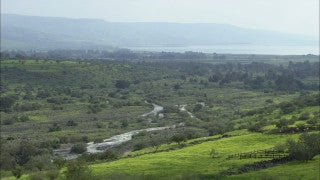 LN_016 Israel Nature and Landscape footage: Jordan River, north of Sea of Galilee, near Hayarden Park