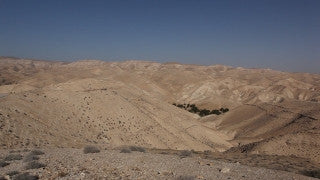 LN_024 Israel Nature and Landscape footage: Negev Mountains, slow pan left to right