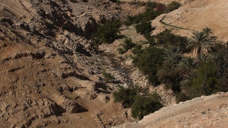 LN_025 Israel Nature and Landscape footage: Negev Mountains, Ein Ovdat (Avdat)