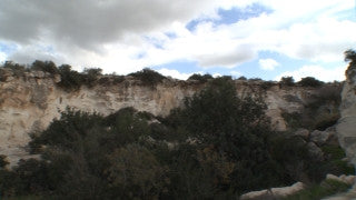 LN_036 Israel Nature and Landscape footage: rocks and brush in the Galilee Mountains