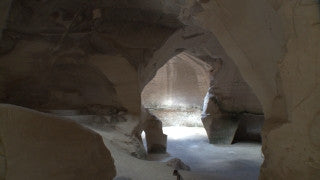 LN_046 Israel Nature and Landscape footage: Beit Guvrin, Maresha Park - Maresha archeological site, inside cave