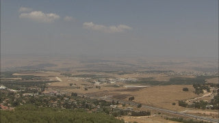 LN_097 Israel Nature and Landscape footage: Zoom in - northern Israel near Rosh Pina in summer