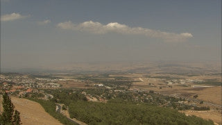 LN_099 Israel Nature and Landscape footage: Galilee landscape in summer