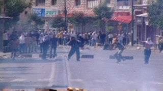 M2_009 Israel military footage: 2nd Intifada - demonstrations in Israel October 2000