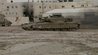 M2_011 Israel military footage: 2nd Intifada - Operation Defensive Shield: Israeli tanks in Ramallah April 2002