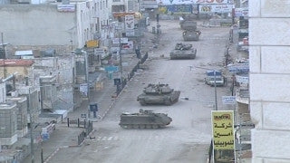 M2_012 Israel military footage: 2nd Intifada - Operation Defensive Shield: Israeli tanks in Ramallah April 2002