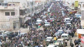 M2_027 Israel military footage: 2nd Intifada - funeral / demonstration in Ramallah, April 2002