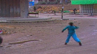 MG_005 Israel military footage: Gaza stock footage - Palestinian children throw stones at Israeli soldiers, 1998
