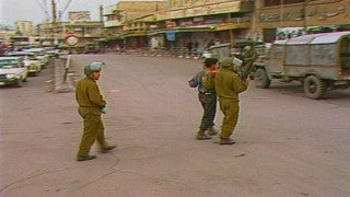 MG_010 Israel military footage: Gaza stock footage - IDF soldiers arrest Palestinian demonstrator, 1998