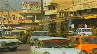MG_014 Israel military footage: Gaza stock footage - Israeli soldiers chase demonstrators in central Gaza, 1998