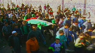 MG_020 Israel military footage: Gaza stock footage - Palestinian funeral procession in Khan Yunes, 2000