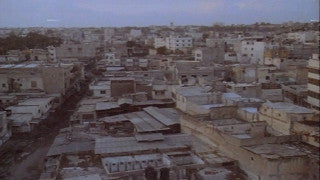 MG_030 Israel military footage: Gaza stock footage - slow pan over rooftops of a Gaza refugee camp (no audio), 1982