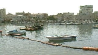MG_035 Israel military footage: Gaza stock footage - the port of Gaza with fishing boats, 1999