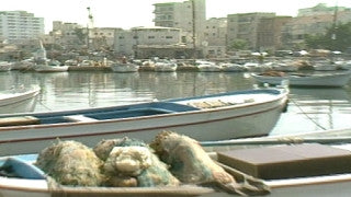 MG_036 Israel military footage: Gaza stock footage - the port of Gaza with fishing boats, 1999