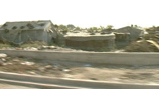 MG_037 Israel military footage: Gaza stock footage - traveling shot of Gaza refugee camp, 1998
