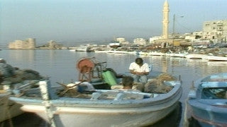 MG_040 Israel military footage: Gaza stock footage - The port of Gaza with fishing boats, 1999