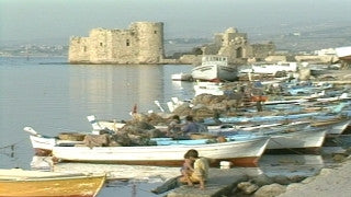 MG_041 Israel military footage: Gaza stock footage - The port of Gaza with fishing boats, 1999