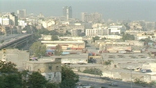 MG_042 Israel military footage: Gaza stock footage - Pan over Gaza city center and skyline, 1999