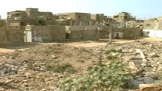 MG_044 Israel military footage: Gaza stock footage - Pan over houses and debris in Gaza refugee camp, 2002