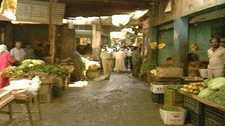 MG_046 Israel military footage: Gaza stock footage - Gaza vegetable market, 2002