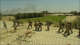 MG_064 Israel military footage: Gaza Disengagement August 2005 - Policemen and soldiers against settlers in Katif settlements