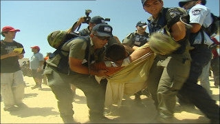 MG_065 Israel military footage: Gaza Disengagement August 2005 - Policemen and soldiers against settlers in Katif settlements