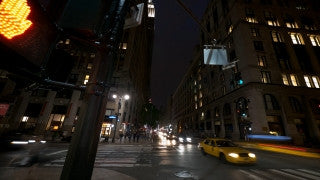 NY T4K 006 New York City 4K Time Lapse Footage: traffic and pedestrians on Madison Ave. at sunset