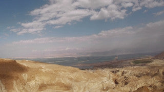TD_011 Time Lapse Israel: Dead Sea - slider shot Judean Desert and Dead Sea