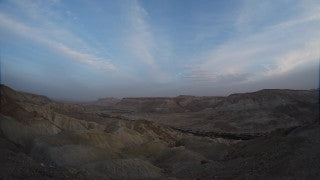 TI_010 Time Lapse Israel: Landscape and Nature - clouds over desert mountains