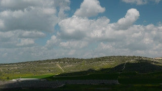 TI_014 Time Lapse Israel: Landscape and Nature - clouds over Judean hills