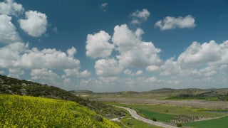 TI_015 Time Lapse Israel: Landscape and Nature - clouds over Judean hills