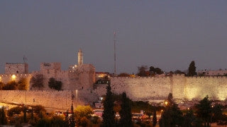 TJ_001 Time Lapse Israel: Jerusalem - Tower of David and city walls, day to night