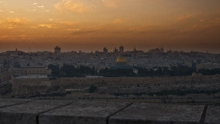 TJ_008 Time Lapse Israel: Jerusalem - skyline day to night