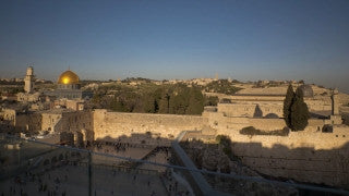 TJ_010 Time Lapse Israel: Jerusalem - Western Wall and Temple Mount day to night