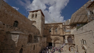 TJ_011 Time Lapse Israel: Jerusalem - Entrance to Church of the Holy Sepulchre